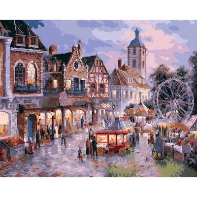 Paint by number kit with scenary, DTPI438