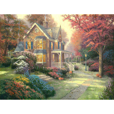 Paint by number kit with scenery, Hidden Paradise