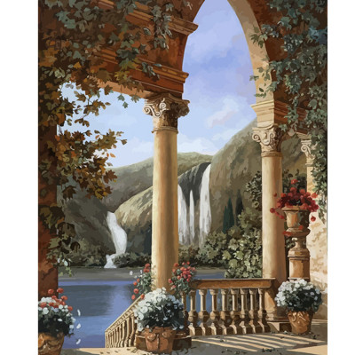 Paint by number kit with scenery, DTPI2173