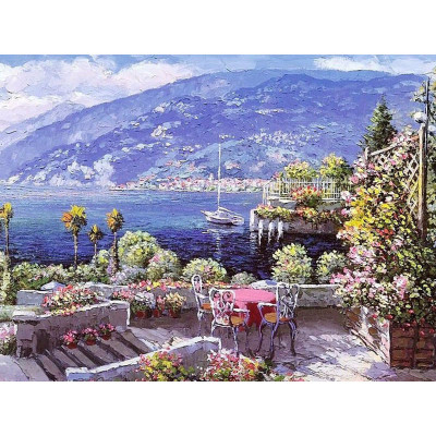 Paint by number kit with scenery, The Place of Dreams