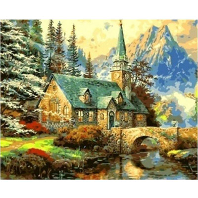 Paint by number kit with scenery, DTPI1162