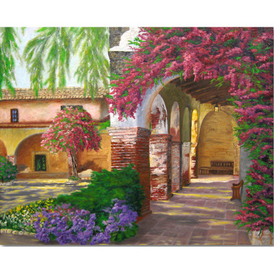 Paint by number kit with scenery, DTPI859