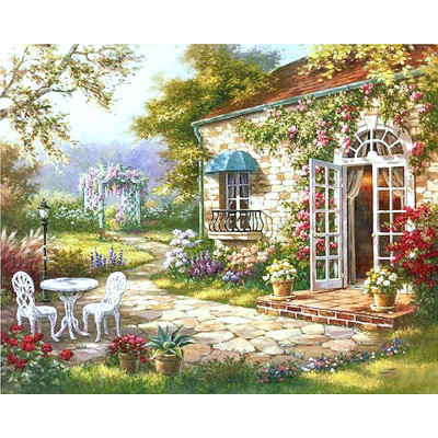 Paint by number kit with scenary, DTPI278
